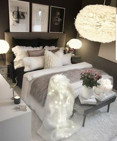 Werbung/Advertisement ( Markennennung) Wish you all a nice evening. Girl Bedroom Designs, Room Ideas Bedroom, Home Decor Bedroom, Living Room Decor, Teen Room Designs, White Bedroom Decor, Glam Bedroom, Budget Bedroom, Cute Room Decor