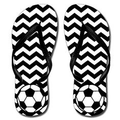 Chevron Soccer Katydid Flip Flop >>> Find out more about the great product at the image link.