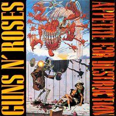 Guns N' Roses - Appetite For Destruction Album Cover