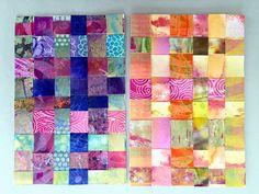 Two beautiful DIY Postcards by Sarah of Juicy*S for the @ihanna fall 2015 DIY Postcard Swap #diypostcardswap #weaving #mail
