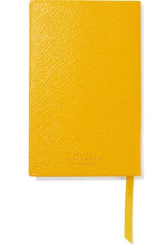 Smythson - Panama Busy Bee Textured-leather Notebook - Yellow
