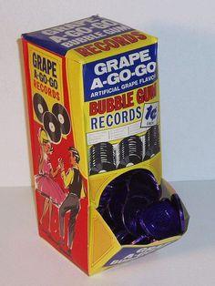 Grape A-Go-Go bubble gum records