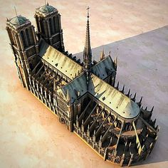 model: model of a Notre Dame de Paris Cathedral. Notre Dame de Paris (French for Our Lady of Paris), also known as Notre Dame Cathedral, is a Gothic, Catholic . Cathedral Architecture, Sacred Architecture, Religious Architecture, Architecture Drawings, Architecture Details, Notre Dame France, Foto Nature, Paris 1900, Oldschool