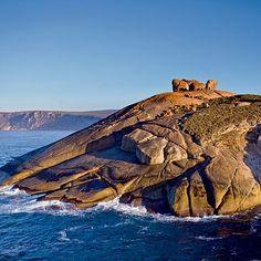 Coastal Dream Destination: Kangaroo Island, Australia. Remarkable Rocks, 500-million-year-old granite boulders warped and eroded into bizarre shapes, afford one of the island's best views. Coastalliving.com