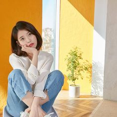 Image about kpop in IU 🌹 by love poem ♡ on We Heart It Korean Actresses, Korean Actors, Simple Icon, Iu Fashion, My Spirit Animal, Love Poems, Record Producer, Kpop Girls, My Idol