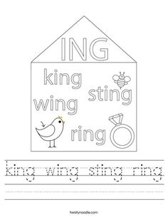 Ing Words, Mini Books, Colouring, Spelling, Worksheets, Wings, Education, Gift, Literacy Centers