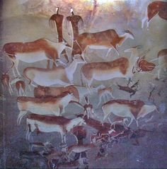 Prehistoric Cave Painting   35000 years ago   Art Ancient History. These are amazing. Follow the link to Maria Laterza's blog for additional images. There is also a good wiki for additional info at: http://en.wikipedia.org/wiki/Cave_of_Altamira