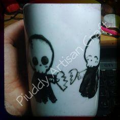 #tazza #mug #handmade #onsale #fattoamano #artisancraft #disegno #draw #paint #pittura #invendita #ideeregalo #tisana #latte #milk #picoftheday #shopping #love #amore #romantico