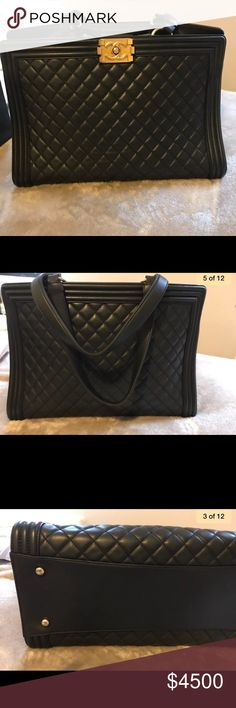 0d655858755e Chanel boy tote Authentic in excellent condition. Dust bag and authenticity card  included. CHANEL