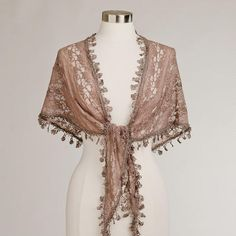 Mocha Lace Scarf at Cost Plus World Market >> #WorldMarket Gifts for her