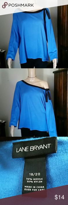 Lane Bryant Sweater Soft, loose fit, blue and black, machine wash and dry sweater. Lane Bryant Tops Blouses