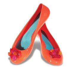 """I'm OBSESSED with OKAb shoes!  I love these """"Crystal in Guava""""! $45 #shoes #madeinUSA"""