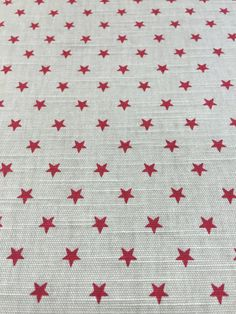 Gray fabric with red small stars, Christmas fabric by SanFabric on Etsy