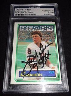 1983 Topps Jim McMahon Signed Rookie Card Autograph RC PSA/DNA  2 Inscriptions!!