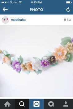 Paper floral garland