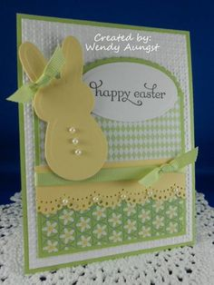 SC373~Happy Easter by WeeBeeStampin - Cards and Paper Crafts at Splitcoaststampers