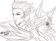 Xayah and Rakan League of Legends