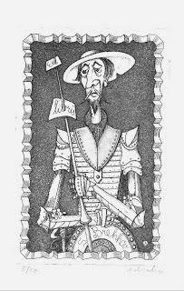 Quijotescos ex libris.