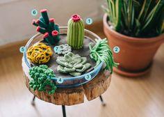 El blog de Dmc: Patrón de ganchillo: terrario de cactus y suculentas