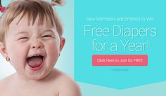 Win Free Diapers for a Year! Register with Everyday Family for free baby samples, offers and coupons from name brand advertisers. New members are entered to Win Free Diapers for a Year! Win Free Diapers For a Year Free Baby Samples, Free Makeup Samples, Baby Coupons, Free Diapers, Online Sweepstakes, School Readiness, Cute Baby Girl, Free Baby Stuff, Laughter