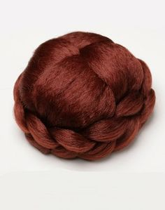 Large Dark Red Braid Effect Clip-In Bun Large Dark Red Braid Effect Clip-In Bun. Same day despatch. 100% Kanekalon synthetic fibre - high quality natural look. Discreet packaging. Style: braided.  #WonderlandWigs #Beauty