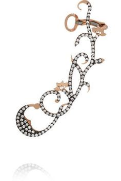 18-karat rose gold diamond ear cuff #accessories #women #covetme #dianekordas