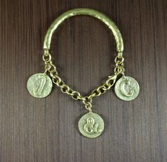 J & C  Outlander inspired  22K Gold Plated bracelet by KLFStudio