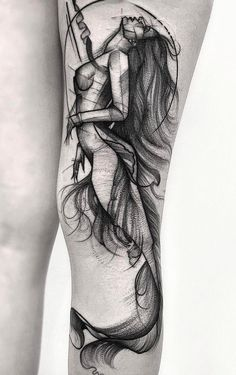 tatuagem tatuagem cascavel tatuagem de rosa tatuagem delicada tatuagem e piercing manaus tatuagem feminina tatuagem moto clube tatuagem no joelho tatuagem old school tatuagem piercing tattoo shop Leg Tattoos, Black Tattoos, Arm Tattoo, Body Art Tattoos, Cool Tattoos, Tatoos, Mermaid Tattoo Designs, Mermaid Drawings, Mermaid Tattoos