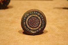 A Romano-Gallic Copper Alloy Disk Brooch with Millefiore Enamel Inlay