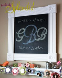 diy framed chalkboard tutorial