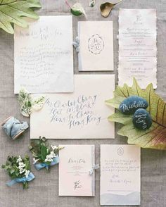 32 Dreamy Watercolor Wedding Ideas | Martha Stewart Weddings - A digitally printed light watercolor wash gave this invitation from Script Merchant some color, while still keeping things simple.