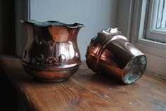2 x Arts and Crafts hand planished Copper by WidgetAndRose on Etsy