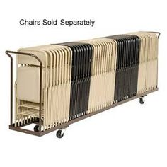 Folding Chair Cart Holds 54 by Global Industrial Price $236.95  sc 1 st  Pinterest & Correll Standing Folding Chair Carts 20x72 | Pinterest | Storage ...