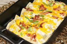 Sinfully Easy Baked Pierogi Casserole - A crowd pleasing baked potato casserole for sure!