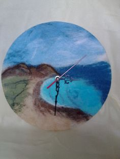 Felted clock Dreams of the Sea by Valyashki on Etsy