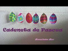 Manualidades. Cadeneta decoración huevos de Pascua