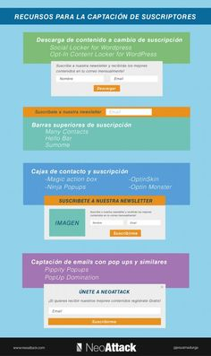 Recursos para la captación suscriptores #newsletter #emailmarketing via @NeoAttack