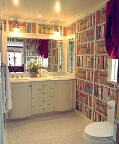 You could even use the wallpaper in the bathroom for a cozier and warmer atmosphere