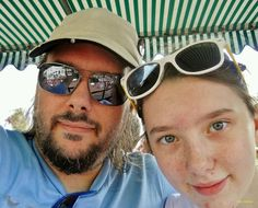Riding the double decker bus at Disneyworld with my daughter. (from 2012)
