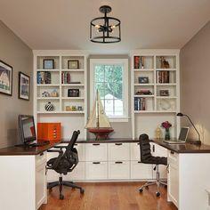 Office Built Ins, Shared Office, Built In Desk, Family Office, Shared Home Offices, Modern Home Offices, Small Home Offices, Home Office Space, Home Office Design