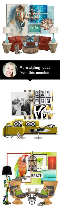"""""""In Love With Rustic and Teal"""" by kimberlyd-2 on Polyvore featuring interior, interiors, interior design, home, home decor, interior decorating, Designers Guild, Universal Lighting and Decor, Ethan Allen and Surya"""