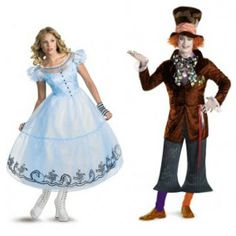 Alice & Mad Hatter Halloween Costumes For Couples