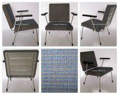 Gispen fauteuil model 415/1401, de stoel is ontworpen door Wim Rietveld