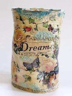 Hand Made 'Dreams' Pot fired 5 timesdecorated by ClaireBakerArt