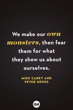 These scary quotes — some from thriller books and horror movies — will definitely send shivers through your body. Witty Memes, Mike Carey, Creepy Quotes, Happy Halloween Quotes, Night Film, American Psycho, Writer Quotes, Thriller Books, Favorite Quotes