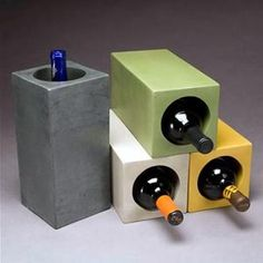 Concrete wine blocks. Oh the fun I could have with these!