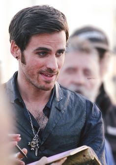 Colin O'Donoghue on set 10/9/14