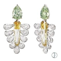 "A Modified ""Dreamcatcher"" Diamond Earrings by FORMS. #formsjewellery #diamond"