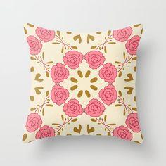 Buy Pillows, Throw Pillows, Cozy House, Bright, Rose, Pattern, Decor, Toss Pillows, Pink