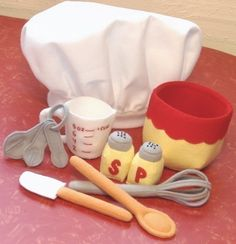 *** Pattern and instructions only ***  Is your little chef ready to mix it up? This pattern has all the supplies needed to stir up something